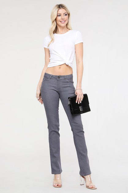 Embroidered Classic Bootcut Jean - orangeshine.com