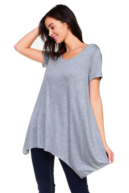 Short Sleeve Swing Tunic - Plus - orangeshine.com
