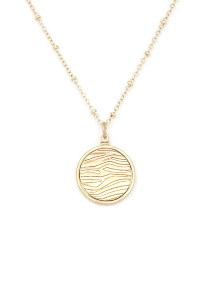 CIRCLE PENDANT NECKLACE - orangeshine.com