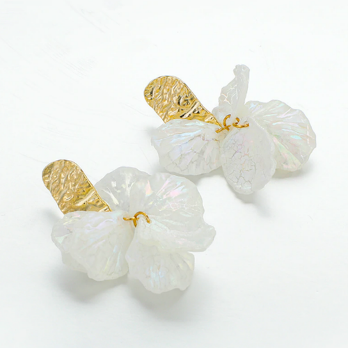 Layered Flower Earrings - orangeshine.com