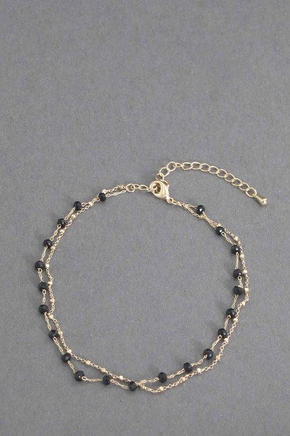 GLASS BEADS  PEARL ANKLET - orangeshine.com