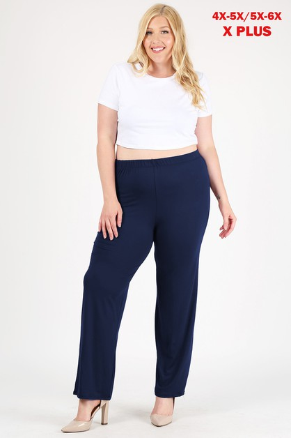 4X-6X Plus Loose Fit Relaxed Pants - orangeshine.com
