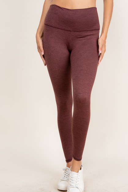 HIGH WAIST SOLID LEGGINGS - orangeshine.com