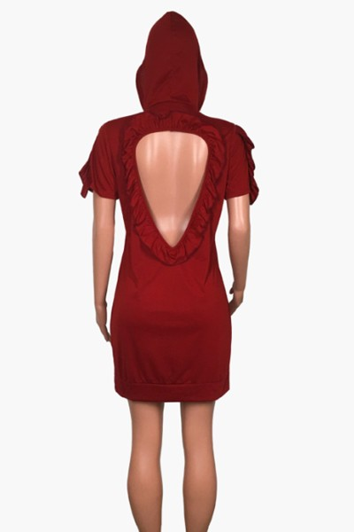 halter hood dress - orangeshine.com