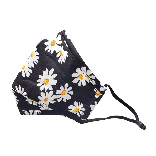 Daisy print fabric face mask - orangeshine.com