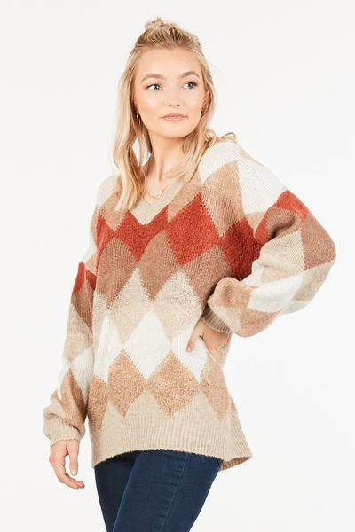 An oversized, multi colred sweater - orangeshine.com