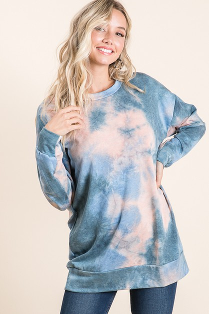 TIE-DYE KNIT TOP  - orangeshine.com