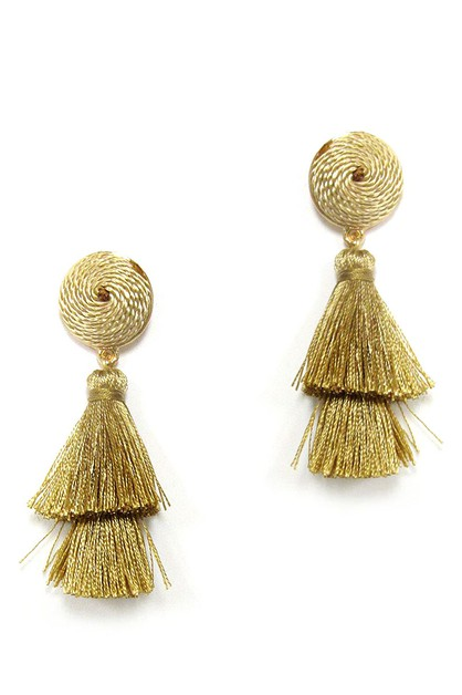 COLOR TASSEL CHIC EARRING - orangeshine.com