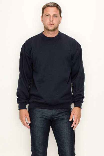 Crew Neck Solid Big Sizes - orangeshine.com
