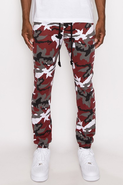 MEN COLOR CAMO TRACK JOGGERS  - orangeshine.com