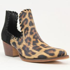 Cut Out Animal Print Booties - orangeshine.com
