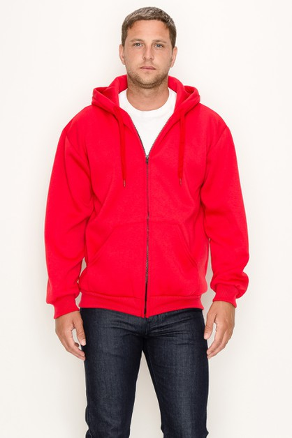 Zipper Hoodie Solid Regular Size - orangeshine.com