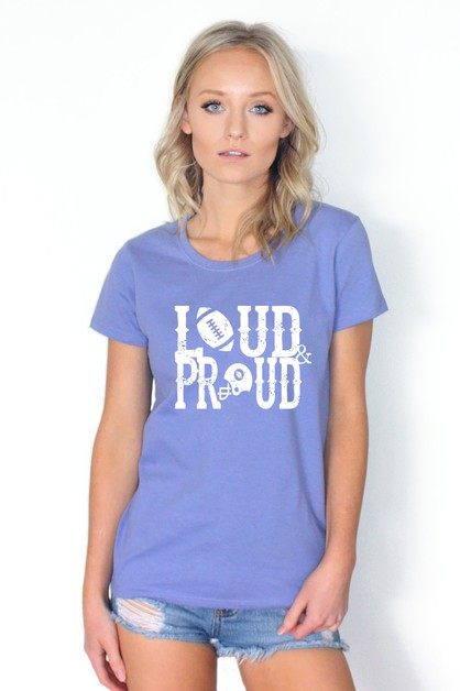 Loud and Proud Graphic Top - orangeshine.com