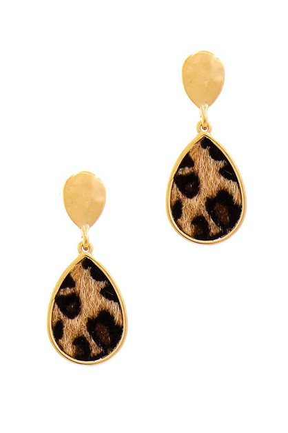 CUTE MODERN TEAR DROP LEOPARD FUR EA - orangeshine.com