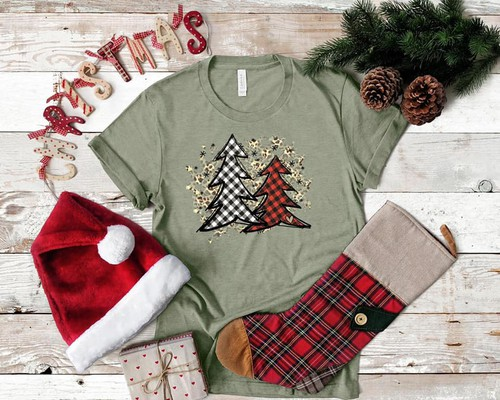 Plaid Christmas Trees - orangeshine.com