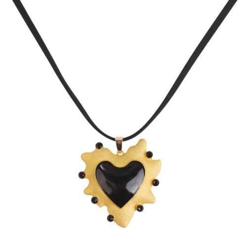Black Heart Necklace - orangeshine.com