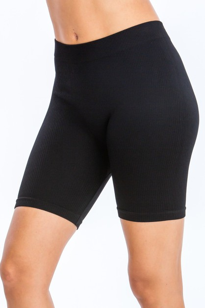 RIBBED SEAMLESS BIKE SHORTS - orangeshine.com