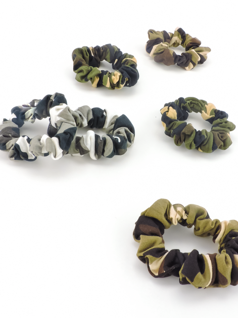Small Multi Camo Scrunchies - orangeshine.com