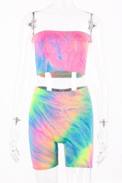 tie dye suspender set - orangeshine.com