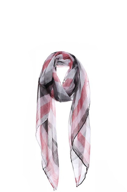 CHIC WATER COLOR STRIPE PRINT SCARF - orangeshine.com