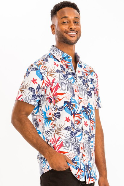 PRINT HAWAIIAN SHIRT - orangeshine.com