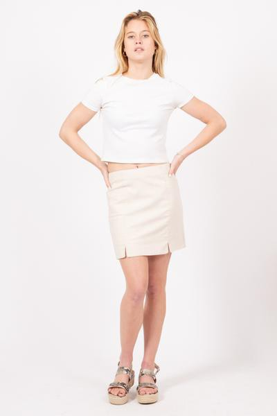 A-LINE MINI SKIRT WITH FULL LINING - orangeshine.com