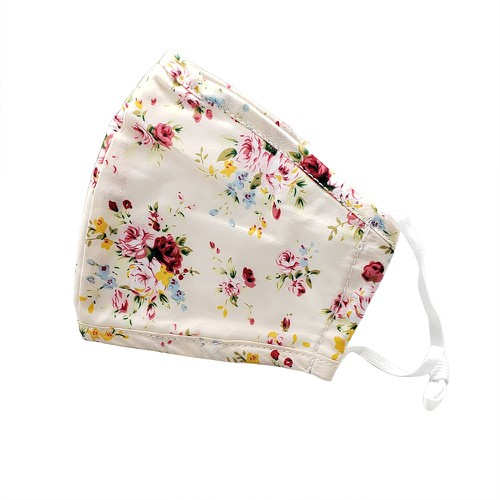 Vintage floral print  fashion mask - orangeshine.com