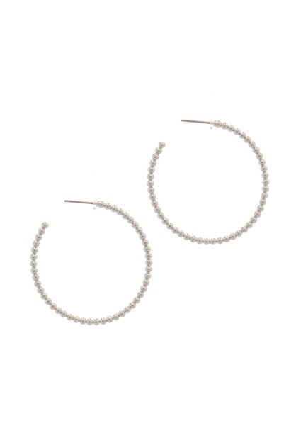 SODAJO METAL BEAD OPEN HOOP EARRING - orangeshine.com