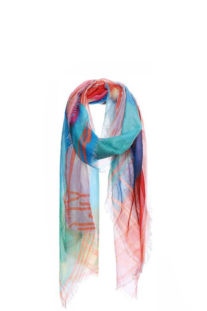 SOFT STYLISH RAINBOW COLOR SCARF - orangeshine.com