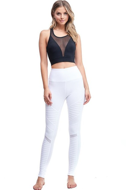 Biker Inspired Active Legging - orangeshine.com