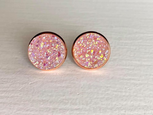 Lavender Druzy in Rose Gold Setting - orangeshine.com