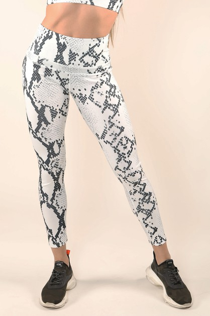 Blow up Snake Print Active Legging - orangeshine.com