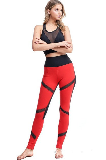 Laced up Active Legging - orangeshine.com