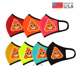 POO Emoji Patched 3D Reusable Mask - orangeshine.com