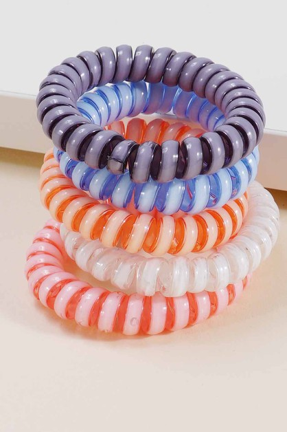 Lollipop Spiral Hair Ties - orangeshine.com