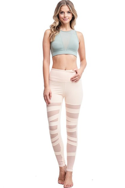 Criss Cross Patterned Legging - orangeshine.com