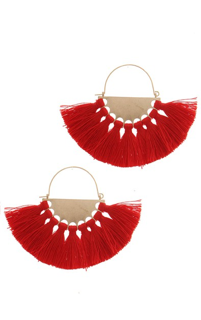 FAN TASSEL DROP EARRING - orangeshine.com