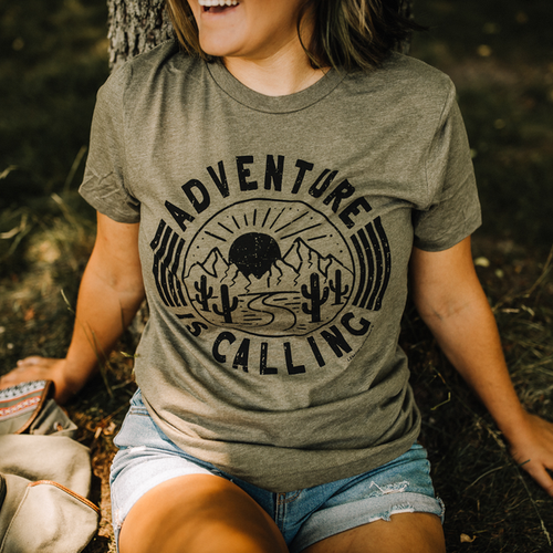 ADVENTURE IS CALLING Graphic Tees - orangeshine.com