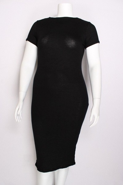 MOCK NECK BODY CON DRESS W  CAP SLEE - orangeshine.com