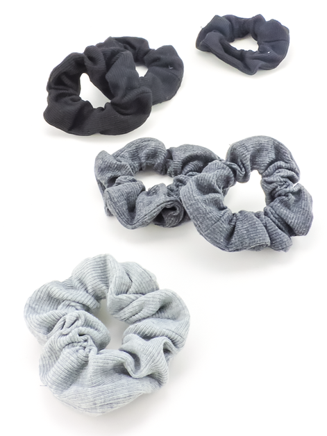Ribbed Knit Scrunchies - orangeshine.com