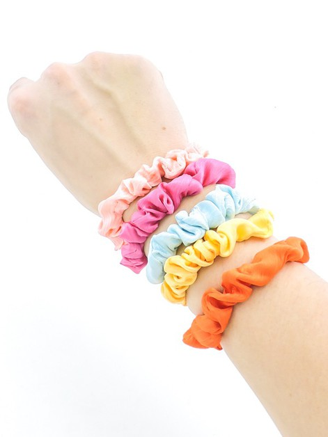 Daily Essentials Mini Scrunchie Set - orangeshine.com