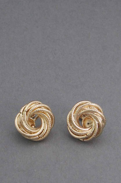 METAL KNOT CLIP ON EARRINGS - orangeshine.com