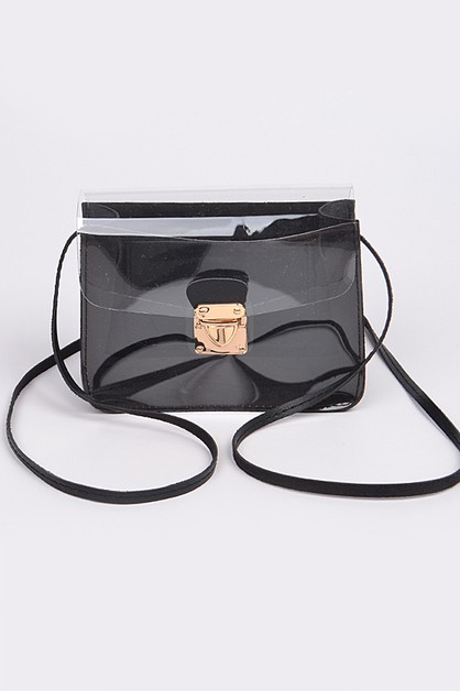 Visible Shoulder Strap Clutch - orangeshine.com