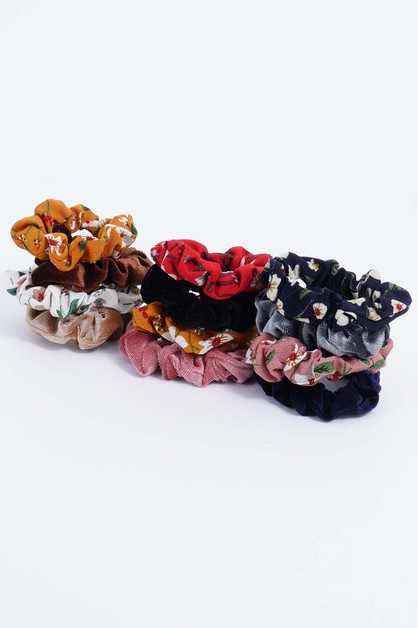 Floral Set Scrunchies - orangeshine.com