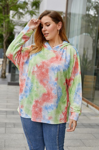 Hooded fashion tie-dye sweatshirt - orangeshine.com