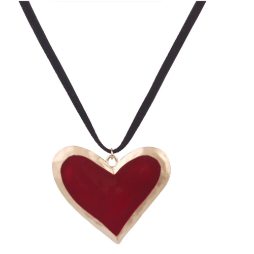Red Heart Necklace - orangeshine.com
