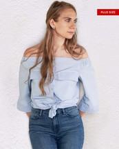 Womens Plus Size Top Off Shoulder - orangeshine.com