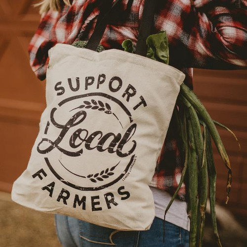 TOTES 6 bags Support Local Farmers - orangeshine.com