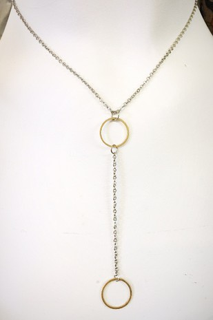 Sm Hoop lariat necklace - orangeshine.com