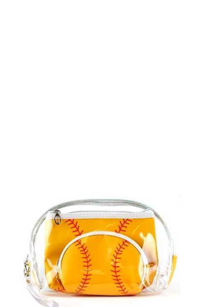 3IN1 SOFT BALL THEME CLEAR POUCHES - orangeshine.com